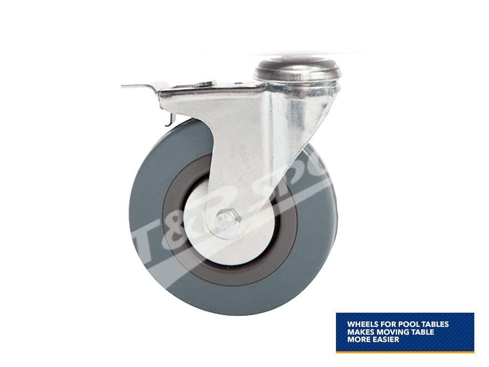pool snooker table moveable lockable wheels