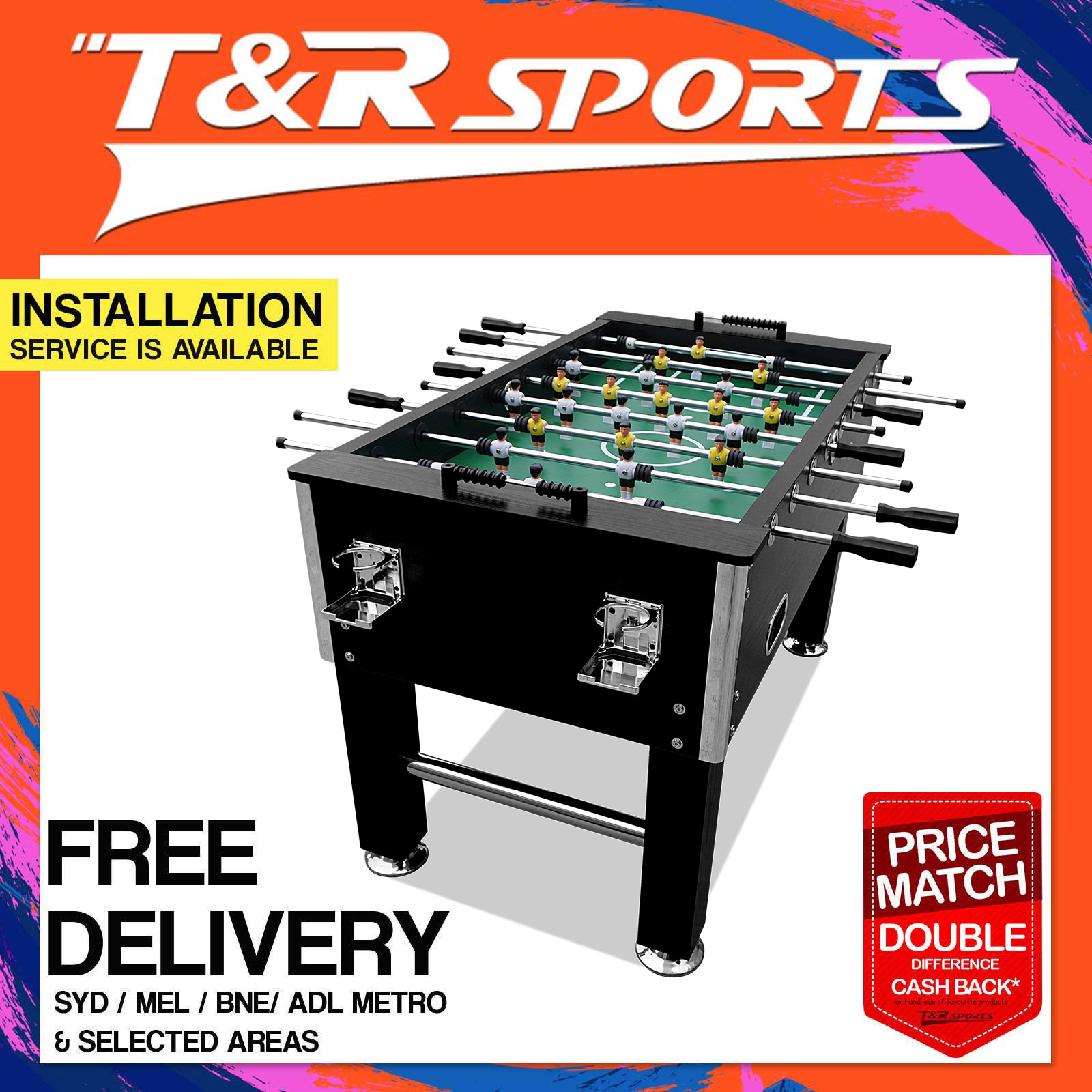 NEWEST MODEL HEAVY DUTY FT SOCCER FOOSBALL TABLE SOLID RODS CHEAP - How much does a foosball table cost