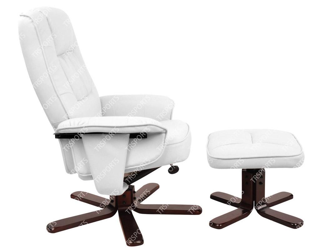 PU Leather Lounge Office Recliner Chair Ottoman White  sc 1 st  eBay & Mason Taylor PU Leather Lounge Office Recliner Chair Ottoman ... islam-shia.org