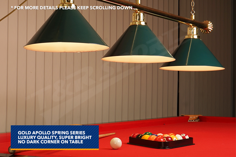 rail green heavy duty shades pool table light free delivery ebay. Black Bedroom Furniture Sets. Home Design Ideas