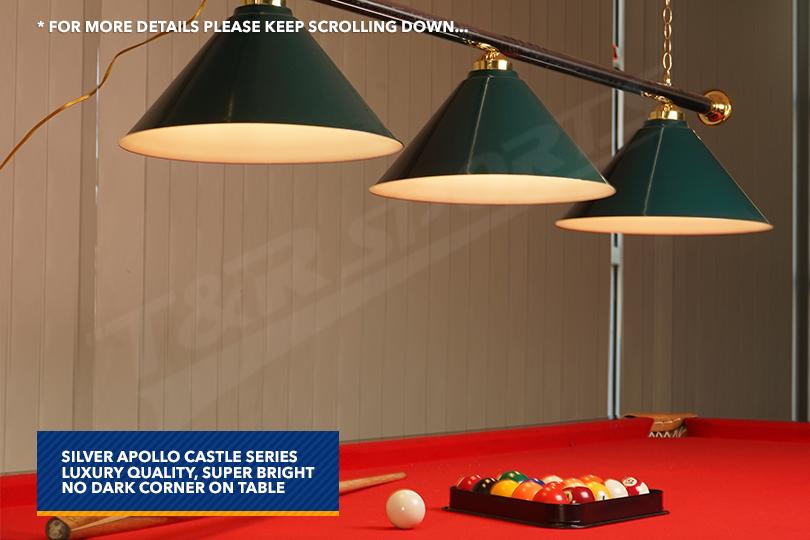 Green Metal Pool Billiard Snooker Table Light