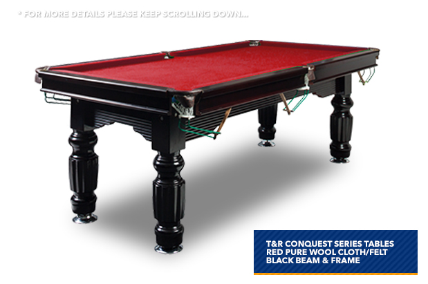 7ft red slate pool table for Table for 6 brisbane