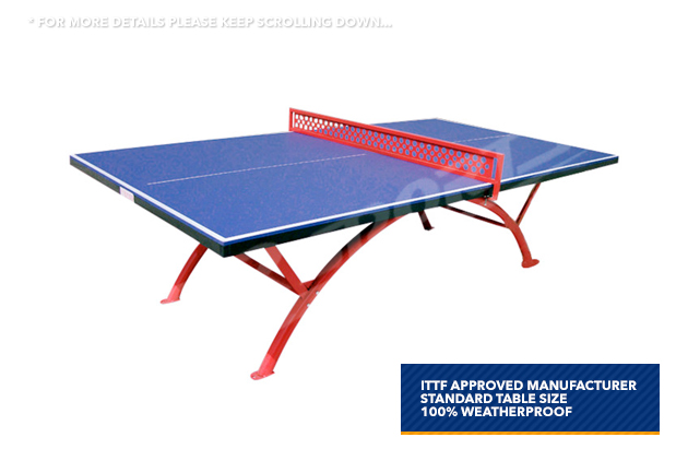 Crown pro size outdoor table tennis ping pong table free syd mel bne post ebay - Dimensions of a table tennis board ...