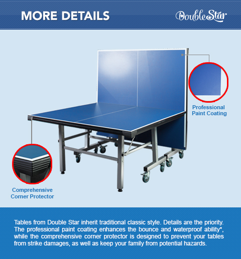 19mm tournament size table tennis table - Dimensions of a table tennis board ...