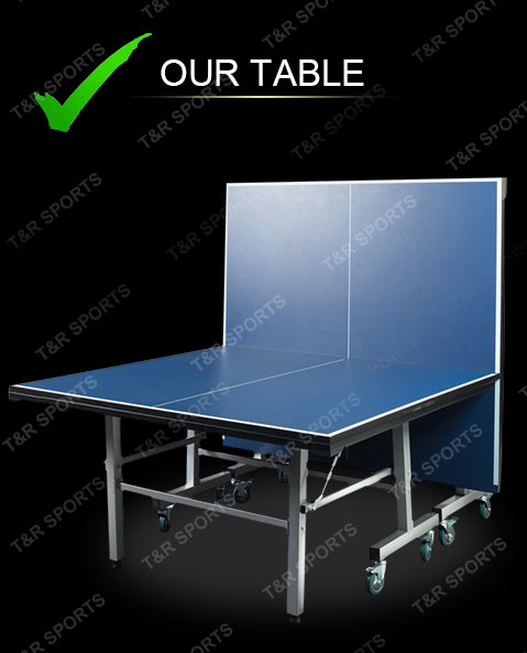 16mm Table Tennis Ping Pong Table