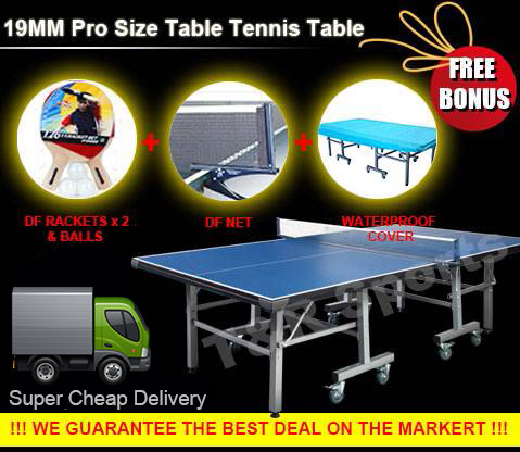19mm Tournament Size Table Tennis Ping Pong Table