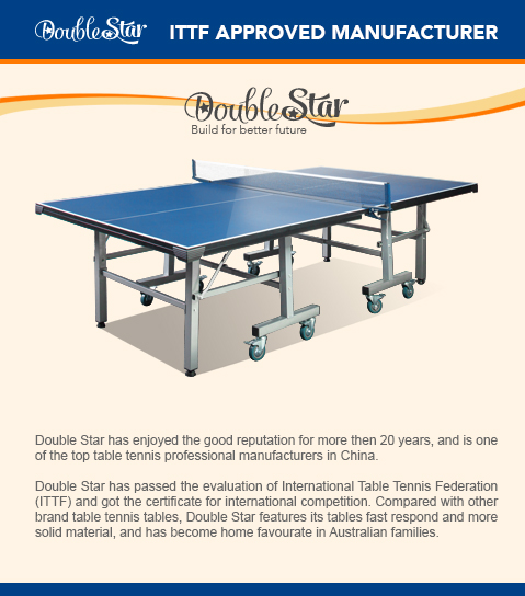 Charmant 19mm Tournament Size Table Tennis/ping Pong Table ...
